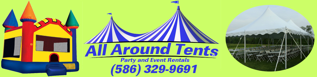 michigan party rentals macomb waterslide tents bounce house