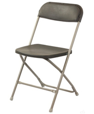charcoal gray folding chairs
